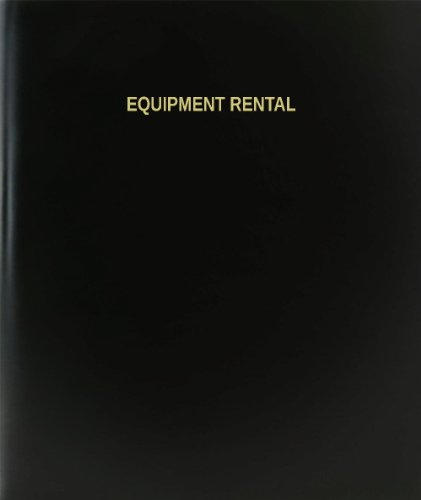 "BookFactory® Equipment Rental Log Book / Journal / Logbook - 120 Page, 8.5""x11"", Black Hardbound (XLog-120-7CS-A-L-Black(Equipment Rental Log Book))"