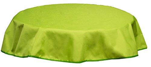beo Nappe pour Table d'extérieur Imperméable, Rond, diamètre 120 cm, Vert Clair