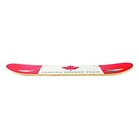 THE SKATE ART FACTORY SK5789 Etagère Skate Canada Petit Modèle Bois 60x15x1 cm