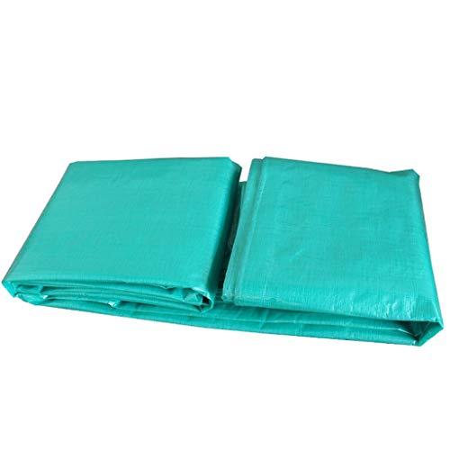 Zfggd Doppelseitige Wasserdichte schwere Plane kampierende Zeltunterlage im Freien regendicht Sonnenschutz Markise Tuch (Farbe : Green, größe : 2x5m)