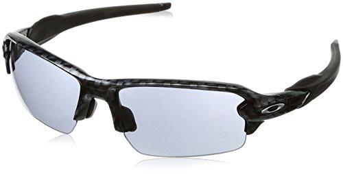 Oakley Men's Flak 2.0 Asian Fit OO9271-06 Rectangular Sunglasses, Carbon Fiber, 61 mm
