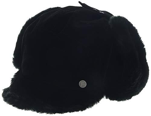 FancetHat Warme Ohrenschutz Mütze Kunstfell Ohrenklappe Baseball Cap S/M Schwarz