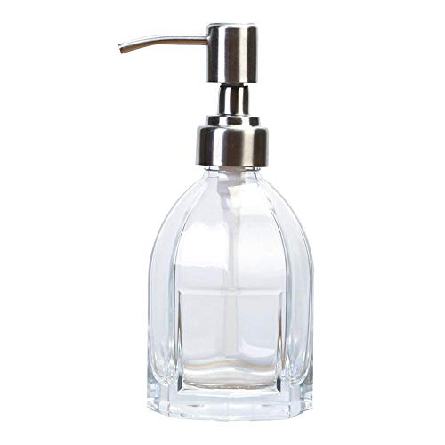 AOLVO Seifenspender aus recyceltem Glas, wiederverwendbar, für Badezimmer, Waschtisch, Küchenspüle, Arbeitsplatten (Quecksilber-glas-badezimmer-set)