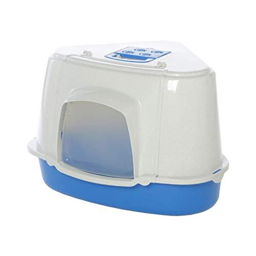 KYCD Katzentoilette, faltbar, mit grauem Ecken, Filter, Reinigung, groß, dreieckig, klappbar,...