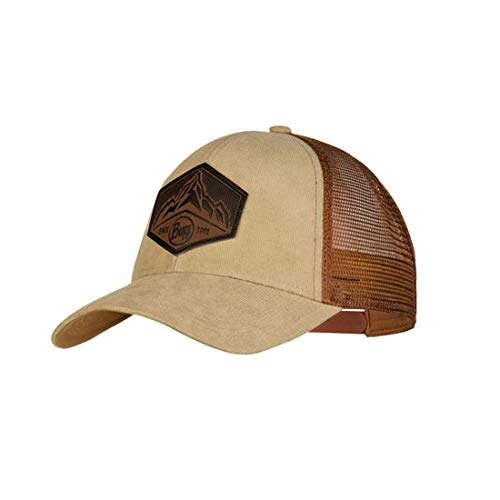 Buff Herren Trucker Cap, Kernel Brindle Brown, One Size Front-mesh Back Cap