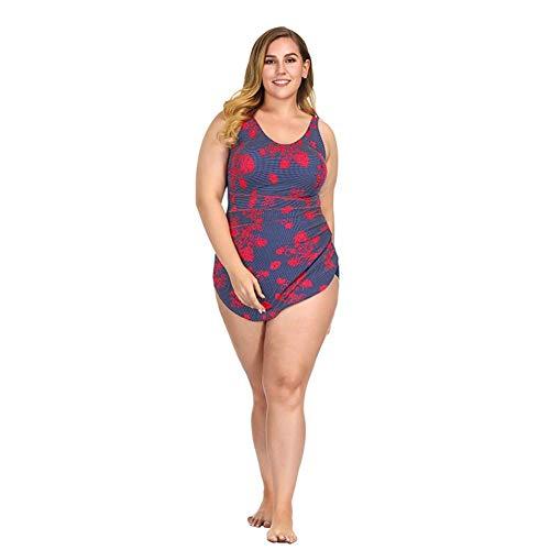 Cxmm Women 'S Red Print Einteiliger Badeanzug Europa Und Die Vereinigten Staaten Sexy Mode Rock Große Badebekleidung Einteiliger Badeanzug Urlaub Hot Spring Korsett - Print-bügel-korsett