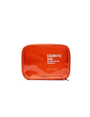 FIANS Kosmetiktasche Transparente Kosmetiktaschenhüllen Für Frauen Bilden Die Kosmetiktasche Travel Organizer Make-Up-Etui Beauty Bag Kulturbeutel, Orange