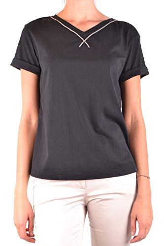 Brunello Cucinelli T-Shirt Donna Mcbi35676 Cotone Nero