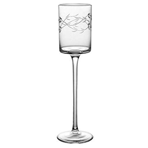Verres à vin Verre À Cocktail Créatif 2 Verres en Verre Cristal Verre À Champagne Verre Cadeau (Color : Clear, Size : 5.4 * 5.8 * 21.6cm)