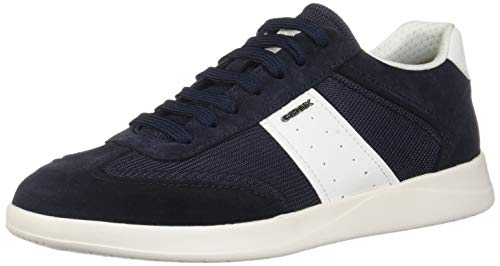 Geox u kennet a a, scarpe da ginnastica basse uomo, blu (navy/white c4211), 44 eu