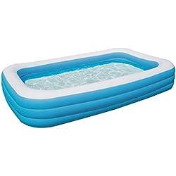 Bestway - Piscine gonflable familiale bleue rectangulaire 305 x 183 x 56 cm