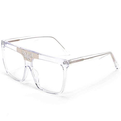 DelongKe Retro Sonnenbrille Damen,Funktion UV-Schutz Klassisch Oval Ultraleicht Vintage Half Rim Metallgläser Für Fahren Golf Outdoor Freizeit,White