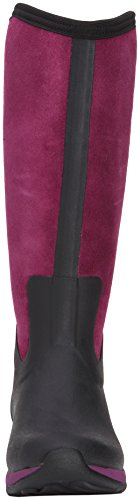 Muck Boots - Arctic Adventure Zip Suede, Stivale da donna Nero (Black/Purple)