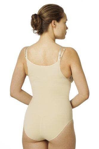 Sleex figurformender Damen Body, Open-Bust (feine, verstellbare Traeger) Hautfarben (Nude)