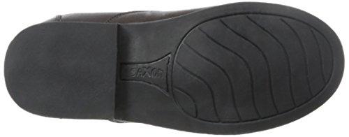 Sächsische zu reinigen Reißverschluss vorne Damen Stiefel, Schwarz, Größe 5,5 braun