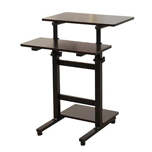 NYDZ Mobile Stehender Schreibtisch Computer Workstation Mobiler Tisch Laptop Schreibtisch Stand Notebook Cart Tray