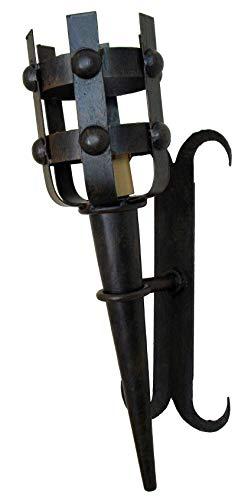 Mittelalterliche Fackel, schmiedeeisern