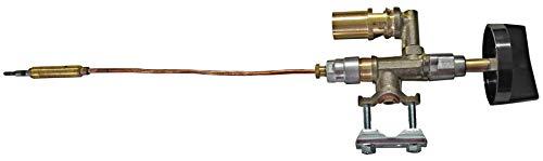 YOURGRILL Gashahn einbaufertig mit Thermoelement und Knebel Ersatzteil Gastrobräter Gasregler - Grill Ersatzteile