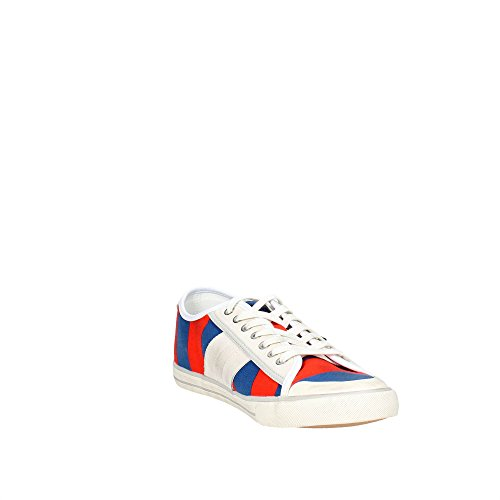 D.A.T.E. Tender LOW-107 Petite Sneakers Homme Bleu/Orange