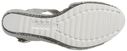 Gabor Shoes Fashion, Sandali con Zeppa Donna Grigio (stone 19)