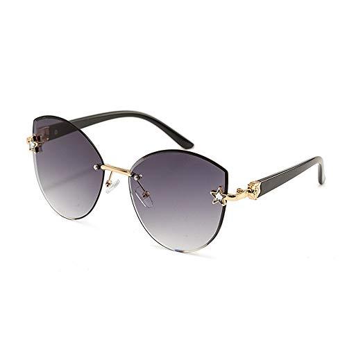 Junjiagao Frameless Outdoor-Sonnenbrillen für Frauen, einfach , getrimmte Marine-Teile, Farbverlauf Ultra leicht (Farbe : Lila)
