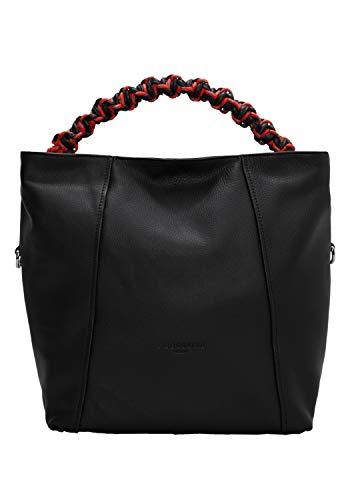 Liebeskind Berlin Damen Scuba Bag Hobo Medium Handbag, Black, 11x31x40 cm