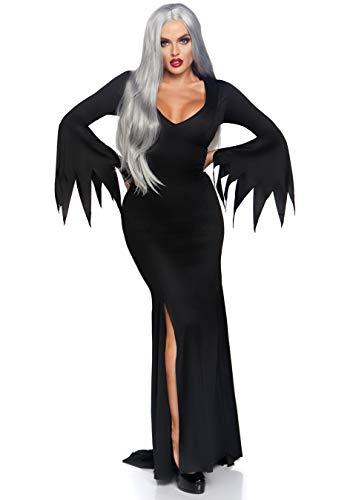 Leg Avenue 3744 - Maxi Gothic Kleid , Größe S/M  (EUR - Schwarz Adam Kostüm