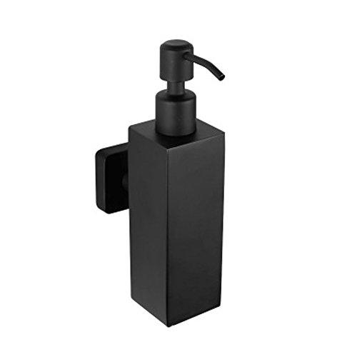 JIAYOU 04 Acero Inoxidable Montado En La Pared Dispensador De Jabón 200Ml De Acero Inoxidable Jabón Negro Líquido Caja De Escritorio De Jabón Botella