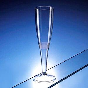 AIOS Lot de 20 flûtes/verres à champagne en plastique de grande qualité 160 ml