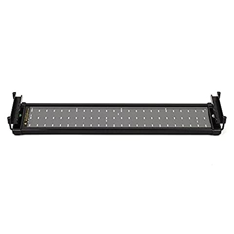 LED Aquarium Light Fixture with Universal Extendable Bracket Fish Tank Light 20-27 Inches AC 100-240V 11W Blue and White Color Changing for Aquarium Hood