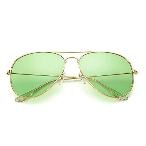 Taiyangcheng Flieger Sonnenbrille Frauen klare Linse weibliche Sonnenbrille männliche Brille Schutzbrille,Grün