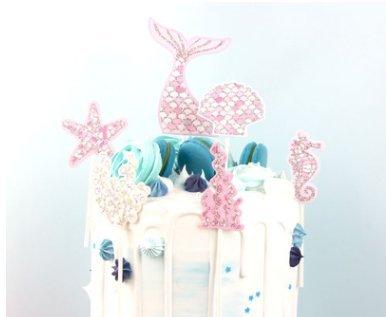 Ocean Theme Kuchendekoration Cupcake Cake Toppers Geburtstagskuchen Deko ()