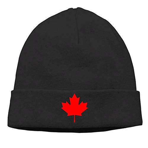 Unisex Canada Maple Leaf Cotton Hedging Hats Soft Warm Beanies Caps,One Size Fashion31