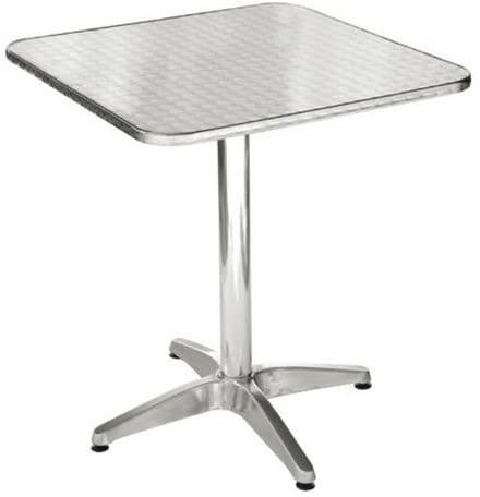 Amicasa. Table de Jardin Aluminium Table carrée 70 x 70 cm Inoxydable yk010