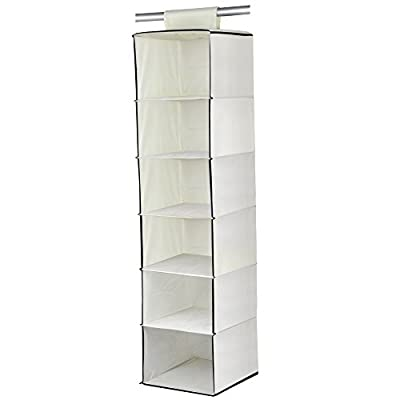 chinkyboo® 6 Shelf Hanging Wardrobe Storage Unit Sweater Organiser - inexpensive UK light store.