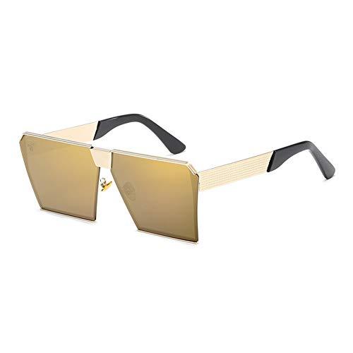 ANHPI Polarisierte Sonnenbrille Europa Und Amerika Box Persönlichkeit Bunte Retro Spiegel Bunte Straßenbrille (Color : #8)