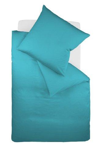 Galleria fotografica fleuresse Colours Lenzuola (copripiumino + federa) in satin di cotone makò con chiusura lampo 155x220 + 80x80 cm