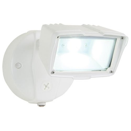 All-Pro FSS1530LPCW, Dusk to Dawn LED Small Floodlight, White by All Pro Outdoor Security (Dusk To Dawn Outdoor-beleuchtung-led)