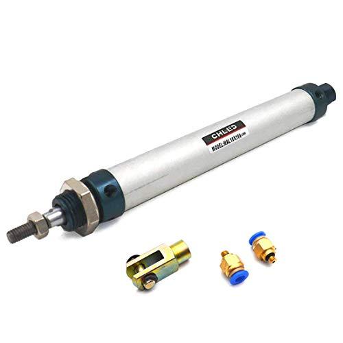 sydien Single Dual Action Mini Pneumatische Zylinder mit Y-Verbindungsstück und 2Pneumatische Quick Fitting MAL16x100 (Zylinder Lange Pneumatische)