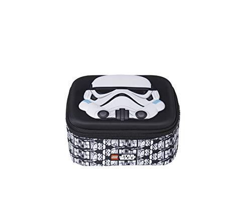 Lannoo Graphics Unisex-Kinder Lego Star Wars Stormtrooper Brotdose 3d Rucksack, Schwarz (Black/Grey) 8x25x20 cm