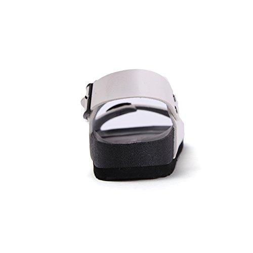 Sommer-Freizeit-Schuhe/Ein Peep-Toe-Herren Sandalen/Flache Sandalen Weiß