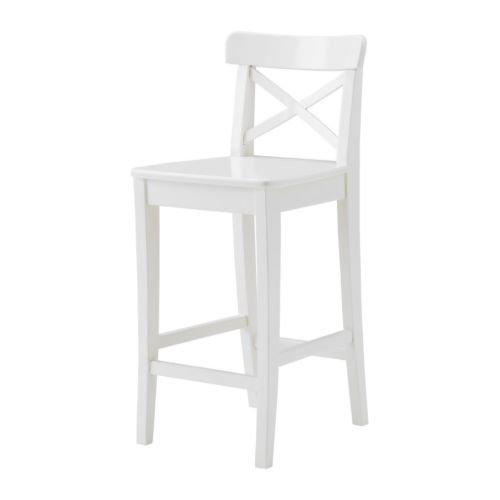 IKEA-INGOLF-taburete-alto-con-respaldo-color-blanco