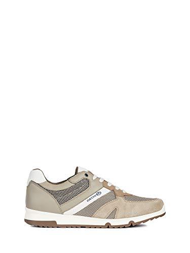 Geox U Wilmer B - MESH Suede Größe 44 EU Beige (beige) - Geox-mesh-sneakers