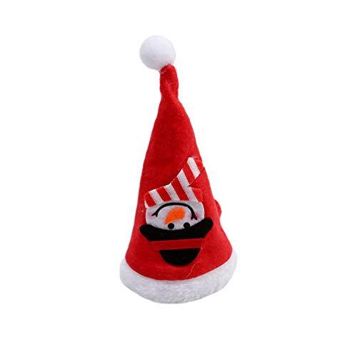 LJSLYJ Weihnachten Geschirr Abdeckung Tabletop Decor Besteck Tasche Halter Weihnachten Hut Kappe Werkzeug Weihnachtsdekoration für Zuhause, Schneemann Stil