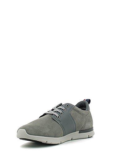 TOMMY HILFIGER Tobias 3B sneakers lacci PELLE MIDNIGHT FM56822130 Steel Grey