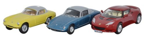 oxford-diecast-76set28-3-piece-lotus-set-elan-elite-evora