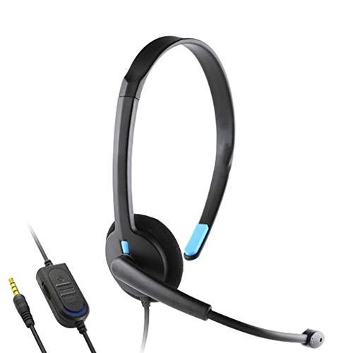 Morza Ersatz für Playstation 4 PS4 Gamer-Kopfhörer für X-ONE X-ONE Over-Ear-Kopfhörer Wired Kopfhörer Gaming Headset PC Videospielgamer (Ps4 Fahrer)