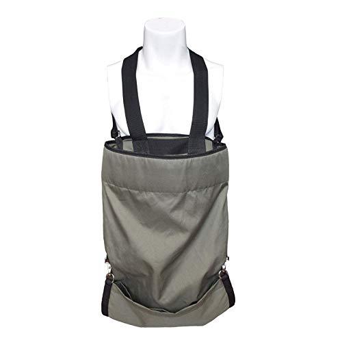 BATHRINS Obstpicking Schürze, Wasserdichte Obstkiste mit strapazierfähiger Tasche, verstellbare Schulterschürze für Apfel, Beere, Zitrus,Birne, Pfirsich-Pfirsich-Putter