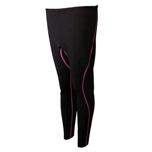 MagiDeal Super Stretch Neoprenhose 3 mm Neopren Lange Hosen, Damen Herren UV Schutz Long Neoprene Pants - Frauen Lila, M