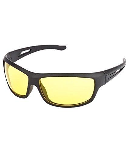 Elligator NightDrive Night Vision Anti Glare Wrap Unisex Sunglasses Pack Of 2 (NVL01|Yellow & White)